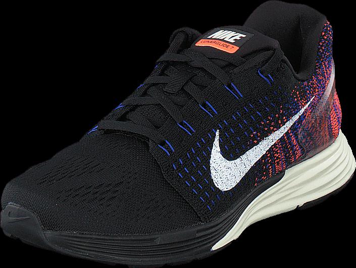 Nike - Wmns Nike Lunarglide 7 Black/Sail-Rcr Blue-Hypr Orng