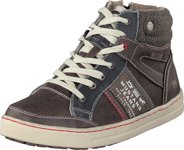 Mustang 5033504 Jr High Top Sneaker Dark Brown