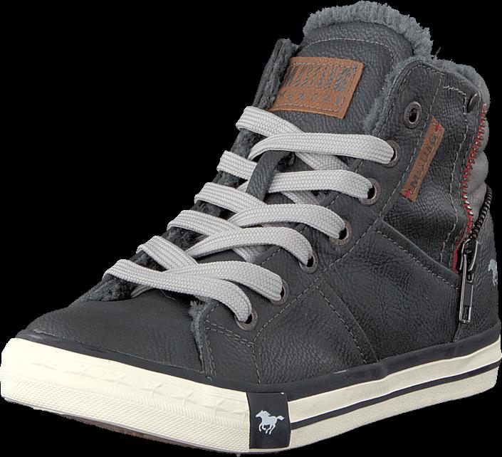 kj p mustang 5024602 jr high top sneaker graphite gr sko. Black Bedroom Furniture Sets. Home Design Ideas