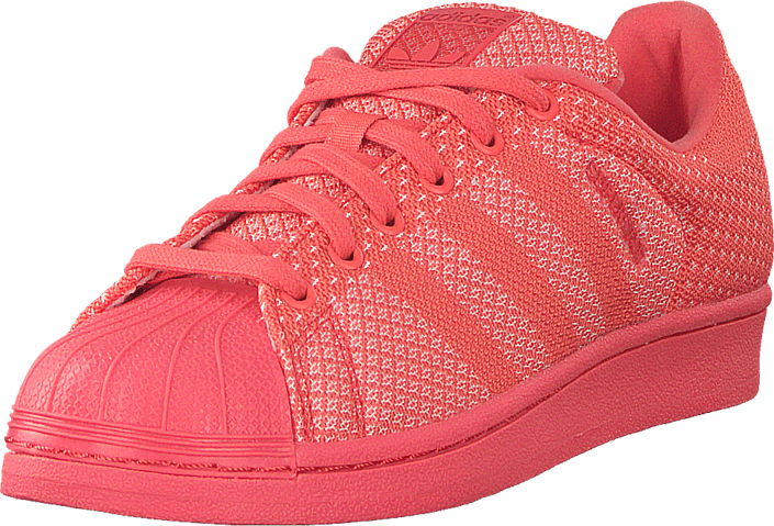 adidas Originals - Superstar Weave Bright Coral/Ftwr White