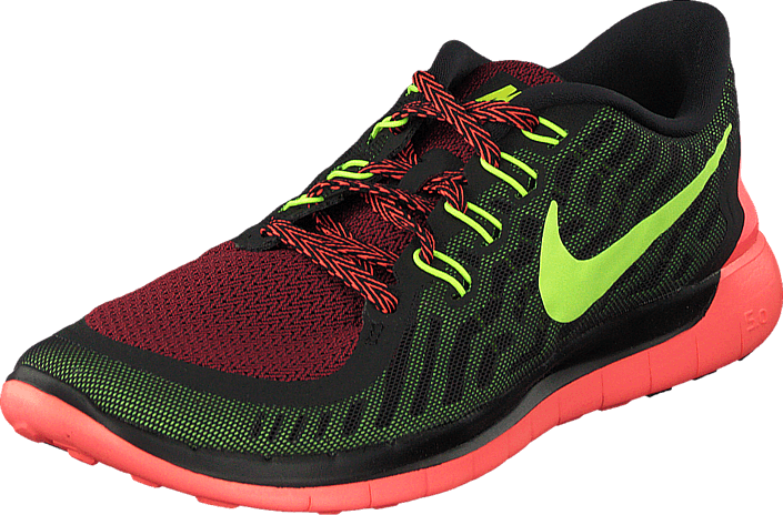 Nike Free 5.0 Black Volt Gym Red