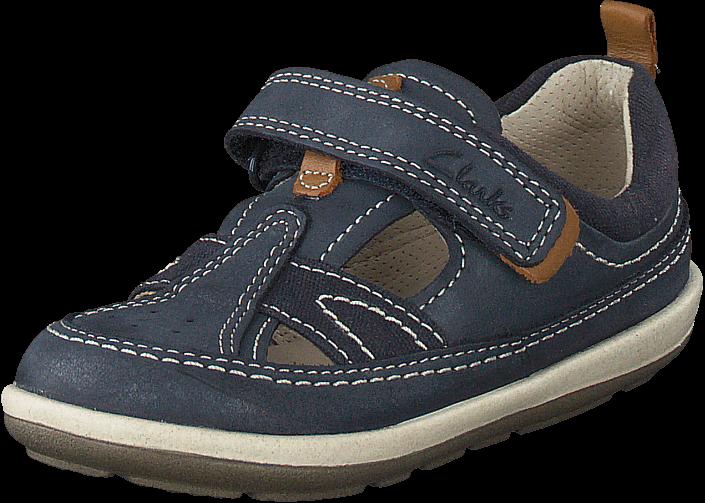 Clarks - Softly Luke Fst Navy Leather