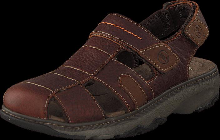 Clarks Raffe Bay Brown Leather, Sko, Sandaler & Tøfler, Flade Sandaler, Brun, Herre, 40