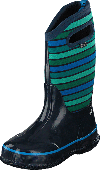 Bogs - Classic Stripes Kids Dark Blue Multi