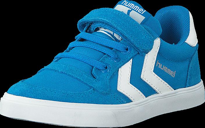 Hummel - Slimmer stadil canvas low Methyl blue