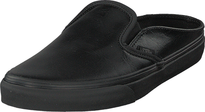 Vans - Classic Slip-On Mule (Leather) Black/Black