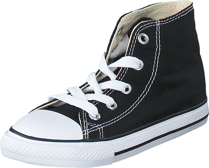Converse All Star Canvas-Hi Black, Sko, Sneakers & Sportsko, Høje Sneakers , Sort, Unisex, 26