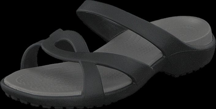 Footway SE - Crocs Meleen Twist Sandal Black/Smoke, Skor, Sandaler & Tofflor, Remsandaler, Gr 337.00