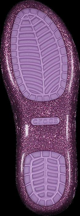 Crocs - Crocs Isabella Glitter Flat GS Wild Orchid/Iris