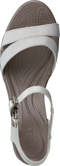 Crocs - Leigh II Ankle Strap Wedge W Oatmeal/Khaki