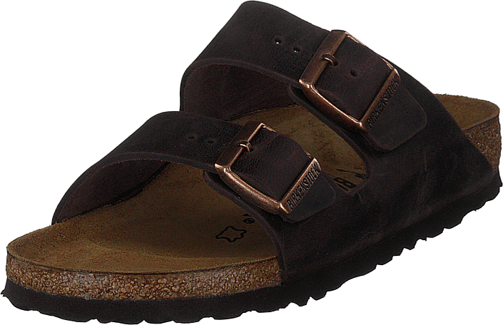 Birkenstock - Arizona Slim Oiled  Leather Habana Brown