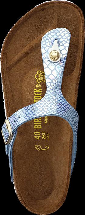 Birkenstock - Gizeh Birko-Flor Shiny Snake Sky