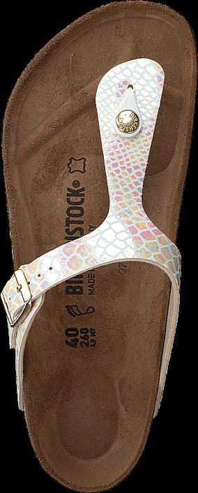 Birkenstock - Gizeh Birko-Flor Shiny Snake Cream