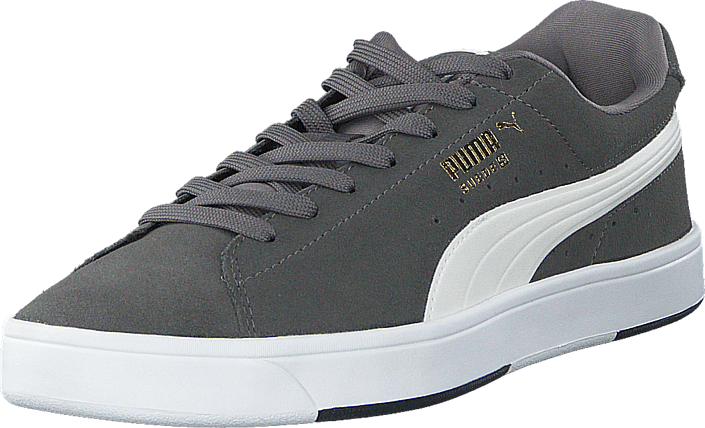 Puma Suede S Steel Gray-White-New Gold
