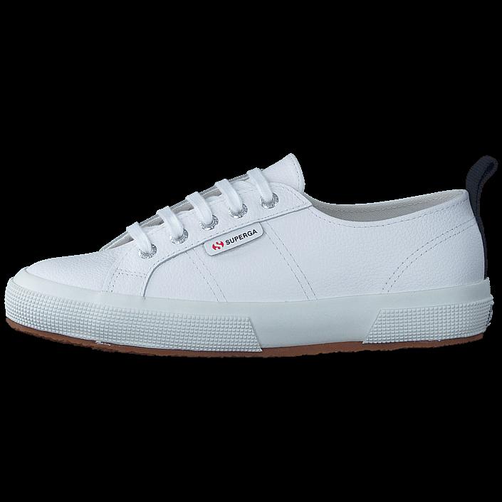 Köp Superga 2750-FGLU Leather White vita Skor Online  d9d45da832586