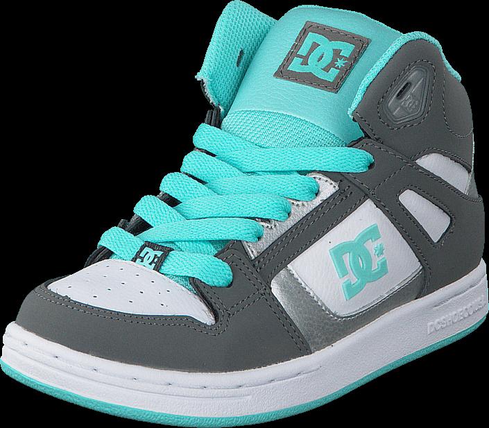DC Shoes Dc Kids Rebound Shoe Grey/Blue/White