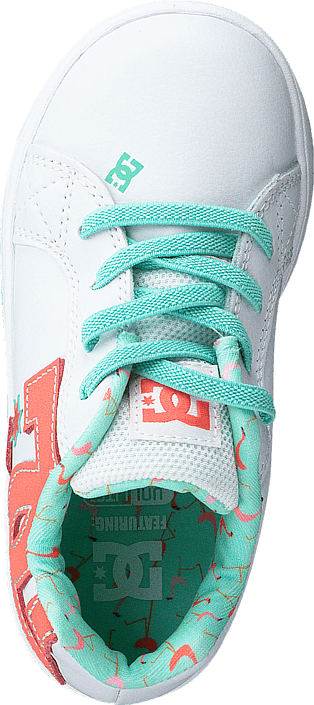 DC Shoes - Dc Court Graffik Elastic White/Turquoise