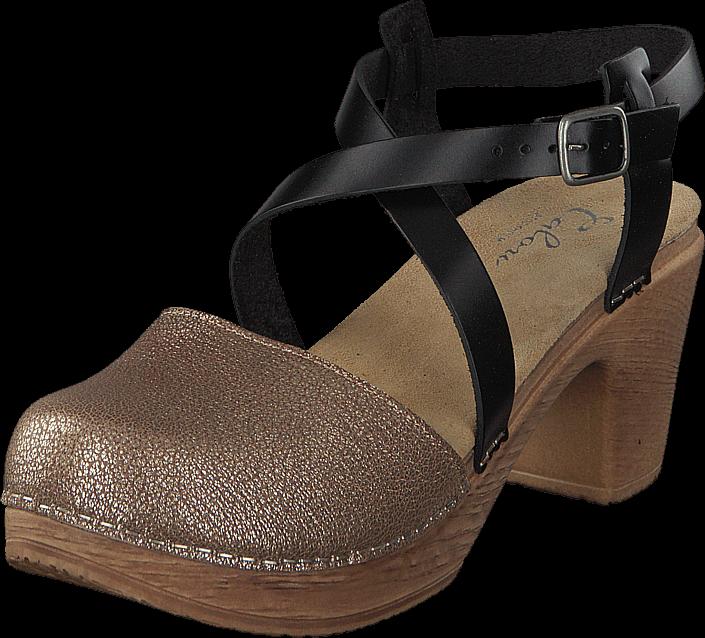 Footway SE - Calou Tilda Bronze, Skor, Klackskor, Lågklackade sandaletter, Blå, Brun, Brons,  1097.00
