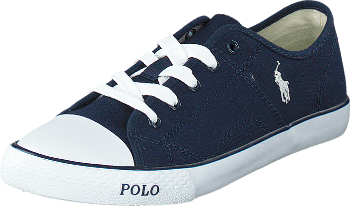 Ralph Lauren Junior Daymond Navy Canvas -White