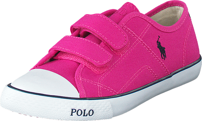 Ralph Lauren Junior - Daymond Ez Kids Regatta Pink Canvas - Navy