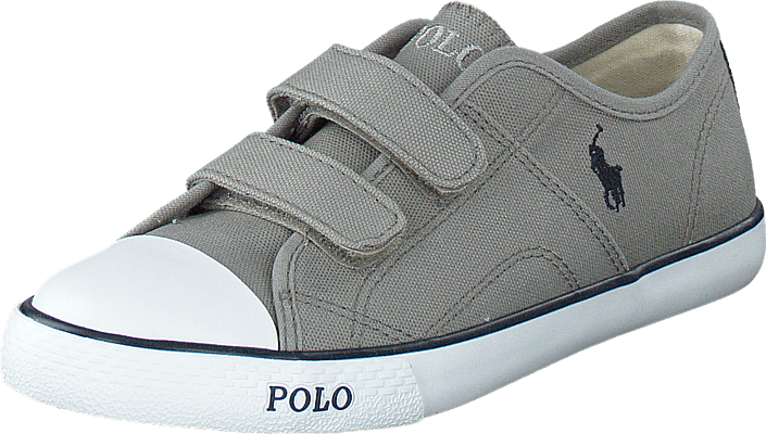 Ralph Lauren Junior - Daymond Ez Kids Grey Canvas - Navy