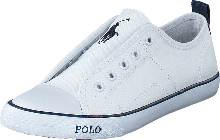 Footway SE - Ralph Lauren Junior Raymond Slip On Kids Bright White Canvas, Skor, Lågskor, Tyg 897.00