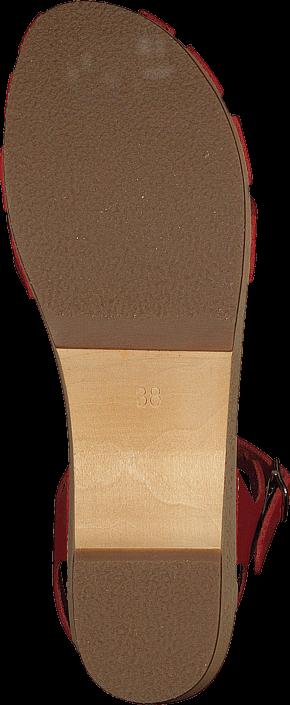 Swedish Hasbeens - Cross Debutant Red/Natue sole