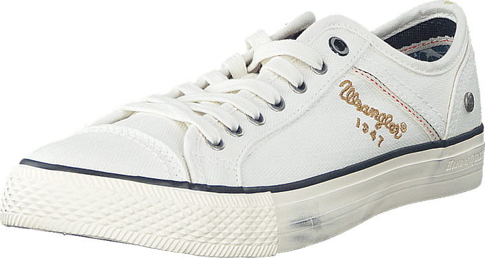 Wrangler - Starry Low Canvas White
