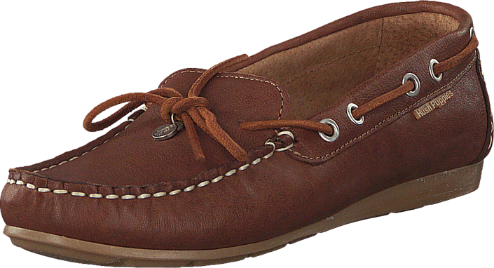 Hush Puppies Erika Moccasin Bow Cognac