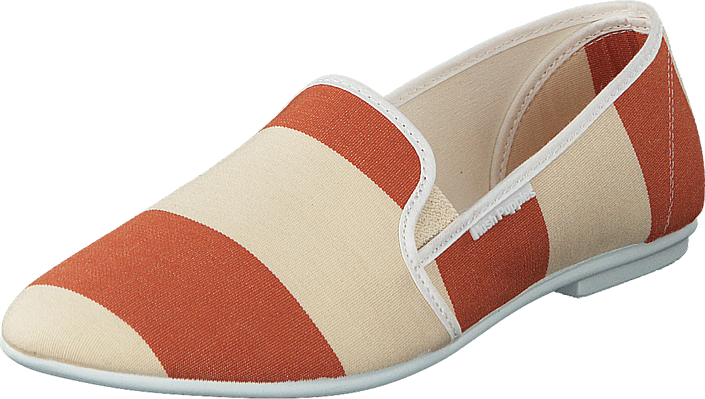 Hush Puppies - Stacy Slip Offwhite/ Rust