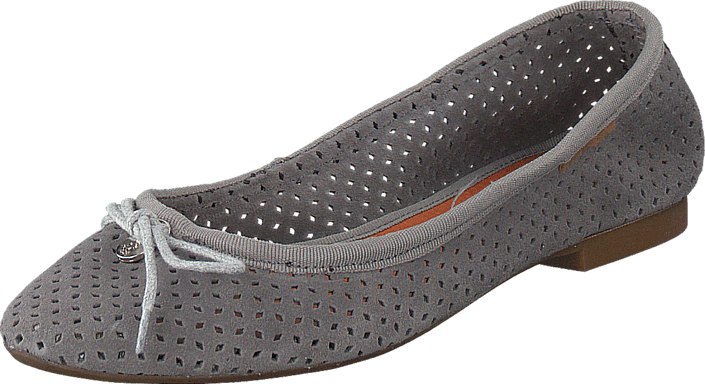 Hush Puppies - Lilly Ballerina Perf Grey