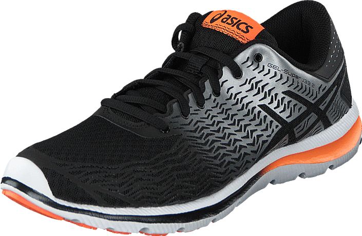 Asics - T5P2N-9093 Gel-Super J33 2 Black/Silver/Flashorange