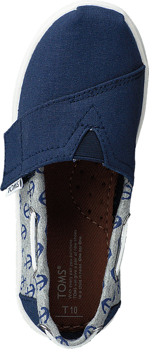 Toms - Bimini Espadrille Navy Anchor