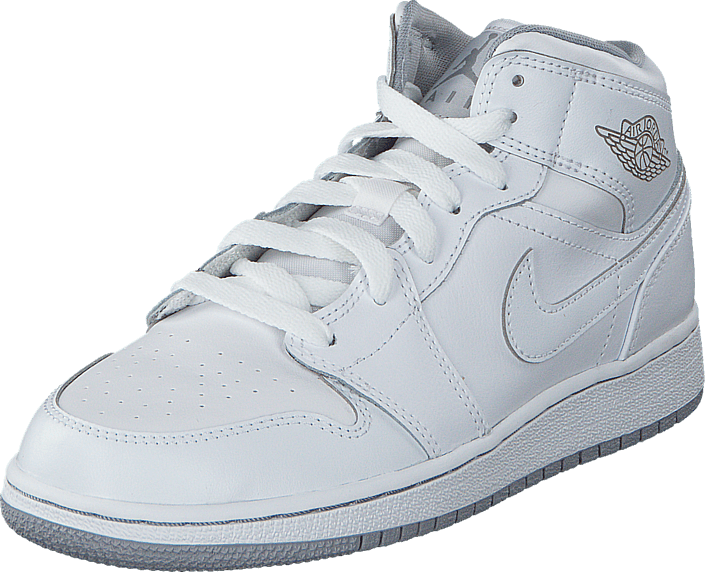 Nike - Air Jordan 1 Mid Bg White/Wolf Grey