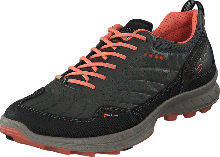 Ecco - Biom Trail FL Black/ Dark Shadow/ Coral