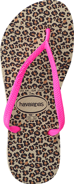 Havaianas - Kids Slim Animals Sandgrey/Pink