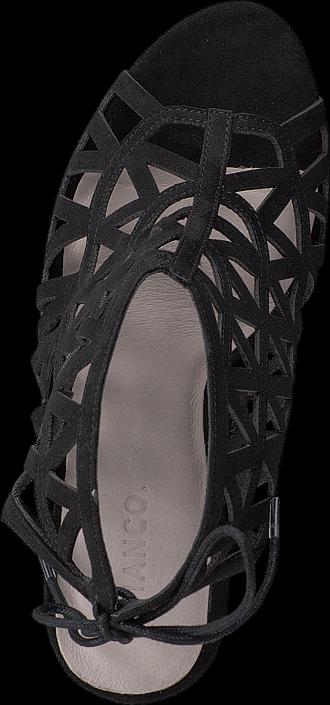 Bianco Cutout Stiletto Sandal JJA16 Black