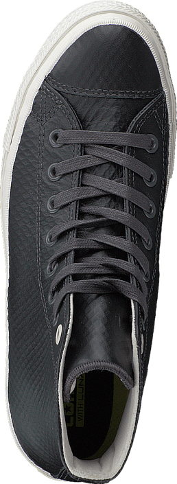 Converse - CTAS II Mesh Backed Leather-Hi Almost Black /Parchment/ Gum