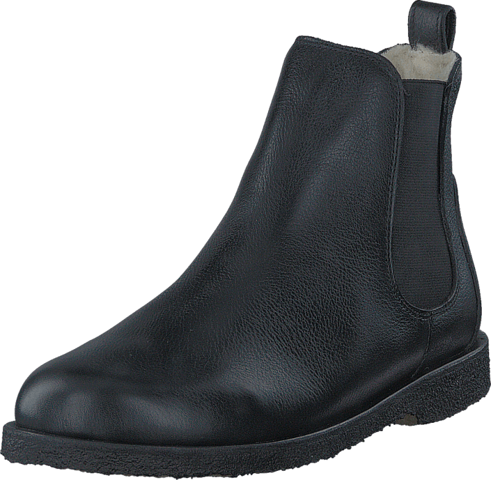 Angulus Chelsea boot with wool lining Black/Black