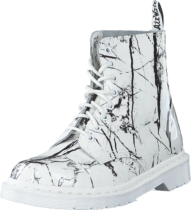 Dr Martens - Pascal Mrbl White Patent Marble