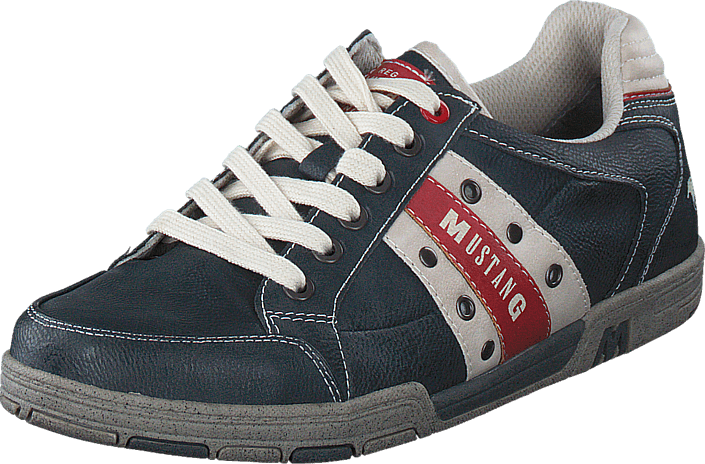 Mustang - 4007317 Men's Lace-Up Shoe Black/ Red
