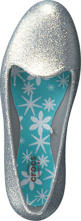 Crocs - Crocs Eve Sparkle Flat K Silver
