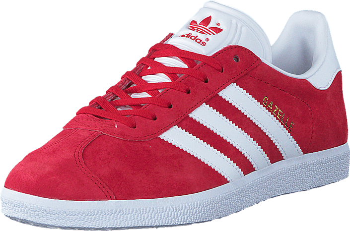 adidas Originals Gazelle Scarlet/White/Gold Met
