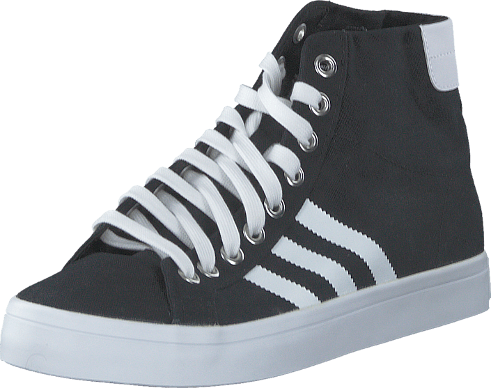 adidas Originals - Courtvantage Mid Black/White/Metallic Silver