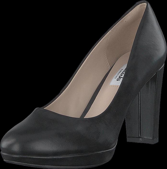 Footway SE - Clarks Kendra Sienna Black Leather, Skor, Klackskor, Högklackat, Svart, Dam, 39 947.00