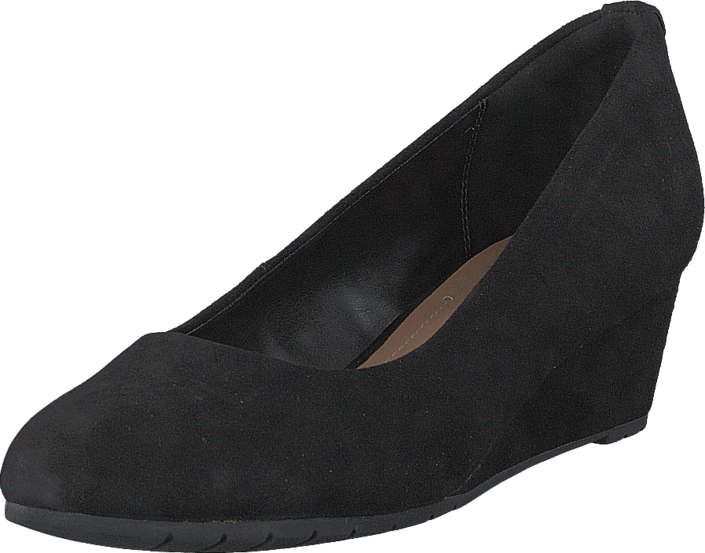 Clarks Vendra Bloom Black Suede