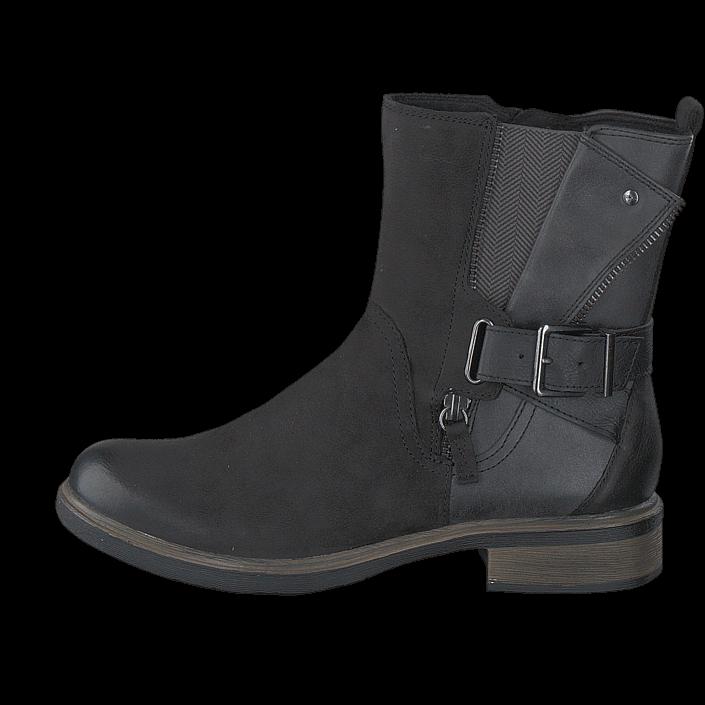 Tamaris 1-1-25413-27 070 Black/Anthracite, Schuhe, Stiefel & Boots, Hohe Boots, Schwarz, Female, 36