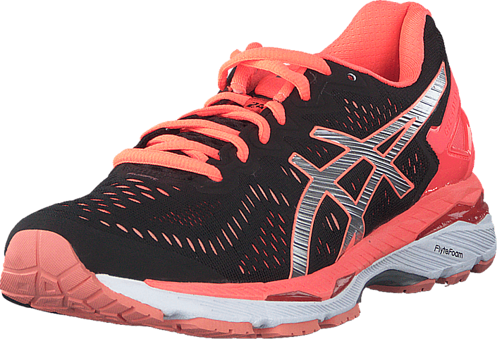 Asics - Gel-Kayano 23 Black / Silver / Flash Coral