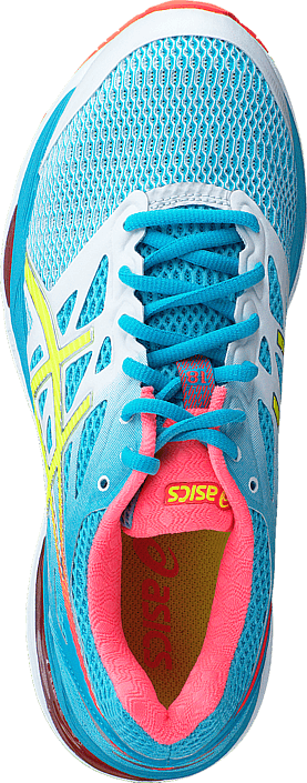Asics - Gel Cumulus 18 White / Safety Yellow / Blue