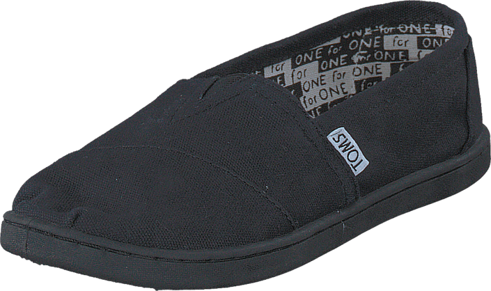 Toms - Black Canvas Yt Clsc Alprg Black